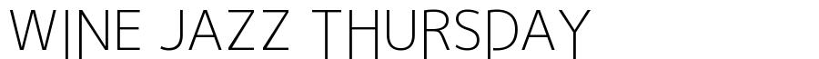 WINE JAZZ THURSDAYfreefont_logo_jiyunotsubasa